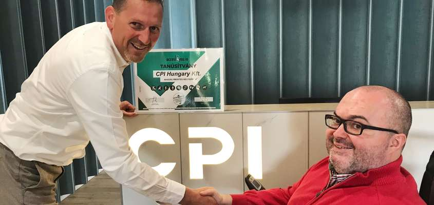 CPI Hungary received Access4you certification